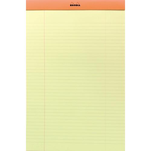 Rhodia blocnote geel A4, lijn