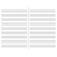X47 vulling medium/ A6 muzieklijnen