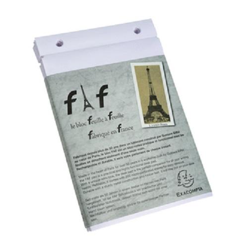 FAF bureaublok nr.4 21x13,5 cm REFILL