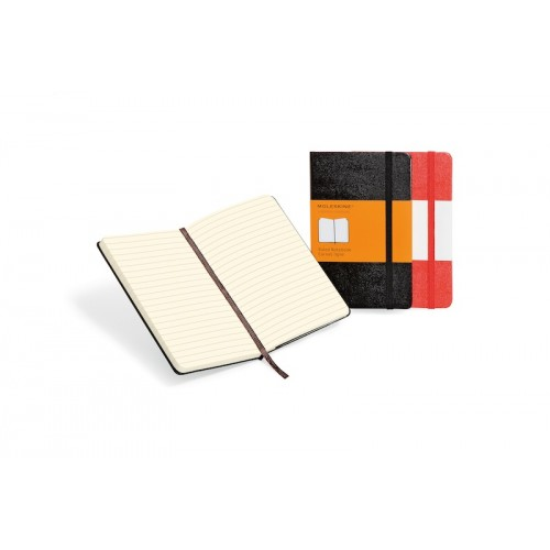 Moleskine notebook hard cover large (ca A5)